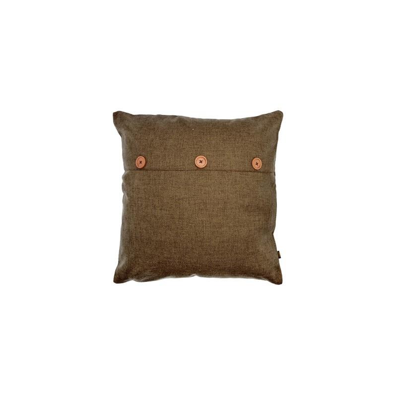 Decoratief kussen - chocolade - 45 x 45cm -