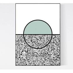 Terrazzo Poster - Sun Green Grey