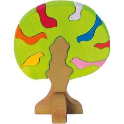 Vogelboom Bonte Lichte Kleuren 9-delig Hout - Glückskäfer