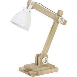 Bureaulamp 50x15x45 cm ELMER hout naturel+wit