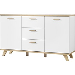 Germania Dressoir Oslo - L144 X B40 X H87 Cm - Mat Wit