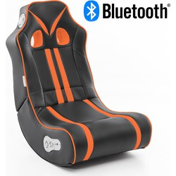 24Designs Racestoel Gamestoel Monaco - Bluetooth & Speakers - Zwart / Oranje SALE