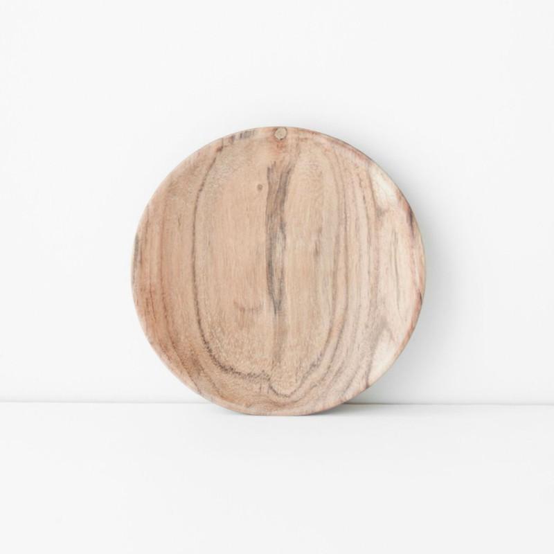 Plate Acacia Wood - Ø13 cm -