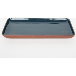 Plate share your food rectangular - Blue