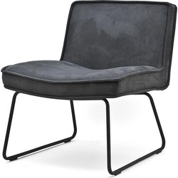 BY-BOO Montana Relax Fauteuil - Microleder Antraciet Touareq