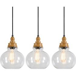 Set of 3 Pendant Lamp Vino 1 Clear
