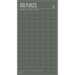DOIY DIY Poster - 100 Places You Must Visit Before You Die