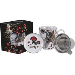 Fine Asianliving Crane Mug w/Strainer 1/12