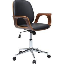 Kare Design Bureaustoel Patron Walnut - Zwart/Bruin