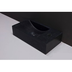 Forza Venetia Fontein kraangat rechts 40x22x10 cm Graniet gezoet