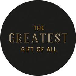 Villa Madelief Greatest gift sticker zwart goud