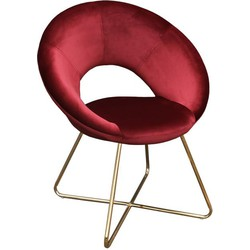 Kick fauteuil Coco Rood - Goud frame