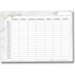 Weekplanner A4 Marmer DesignClaud - Familieplanner Notities - 50 vellen
