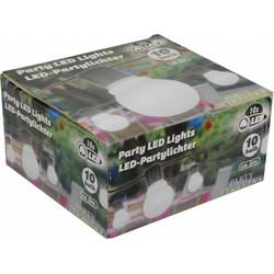 Party Lighting LED Feestverlichting Prikkabel, 10 Lampen, 6 Meter, IP44, Op Batterijen