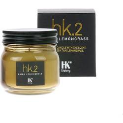 HK-living geurkaars in glazen potje HK. 2 Aziatisch citroengras 7,5x7,5x8cm