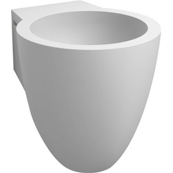 Clou Flush Fontein met voorbewerkte kraangat 27x31,5x28 cm Aluite/Wit