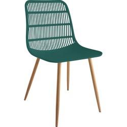 Tamy - Set van 4 stoelen - Groen