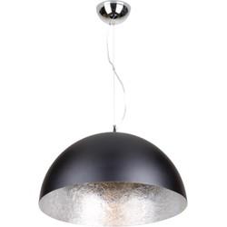 Linea Verdace Hanglamp Cupula Ø70 Cm Mat Zwart - Zilver