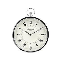 London Clock Company Fob Wall Clock, Silver
