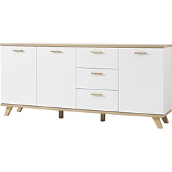 Germania Dressoir Oslo - L196 X B40 X H87 Cm - Mat Wit