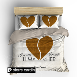 Pierre Cardin Dekbedovertrek Him & Her Ecru/Gold-140x200/220