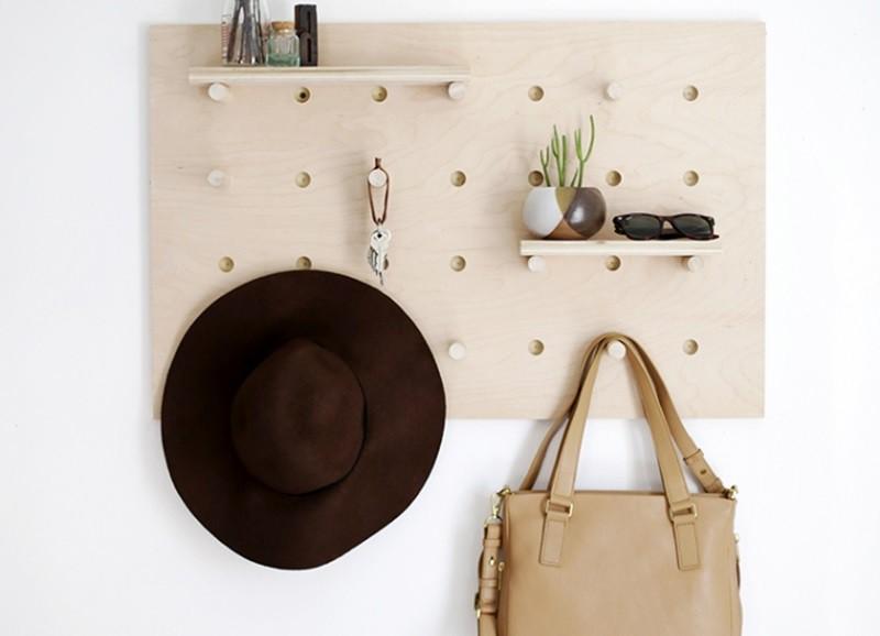 DIY: Zo maak je deze kapstok/wand organizer zelf