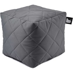 Extreme Lounging poef b-box Outdoor ruit - Grijs
