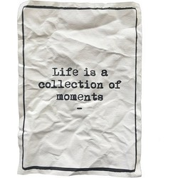 Mo-Ca Tekst Poster A3  - Life is a collection of moments