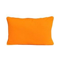 Cotton Plain Orange Scatter Cushion, 33 x 45 cm