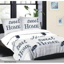 Swissation Dekbedovertrek Home Sweet Home Maat: 1-persoons (140 x 200/220 cm + 1 kussenslopen)