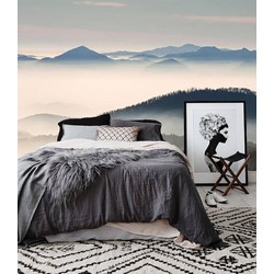 Zelfklevend behang XL Mistige bergen 300x250 cm