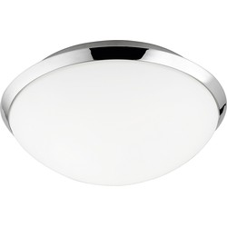 Modern Round Ceiling Lamp Chrome Incl. LED - Nando