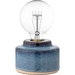 Bloomingville Tafellamp Porselein 9 x Ø12 cm - Blauw