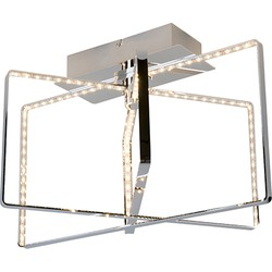 Modern Ceiling Lamp Chrome incl. LED - Circus