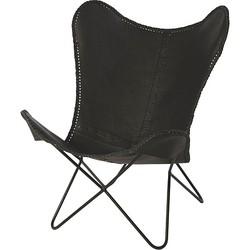 Riverdale Brooklyn Vlinderstoel Zwart - 92 cm