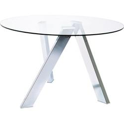 Kare Design - Ronde Eettafel Mikado - 120 Cm - Glazen Tafelblad