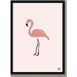 Dierenposter Flamingo - A4