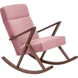 Sternzeit Retro Lounge Schommelstoel Velvet Vintage Pink