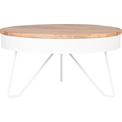 Coffee table Saran by LABEL51 is a handy, handmade table of the most beautiful materials. Saran with be a centrepiece in your home with its playful and open design.<br>