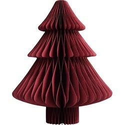 &k amsterdam Kerstboom Papier Donkerrood - 22 x Ø18 cm