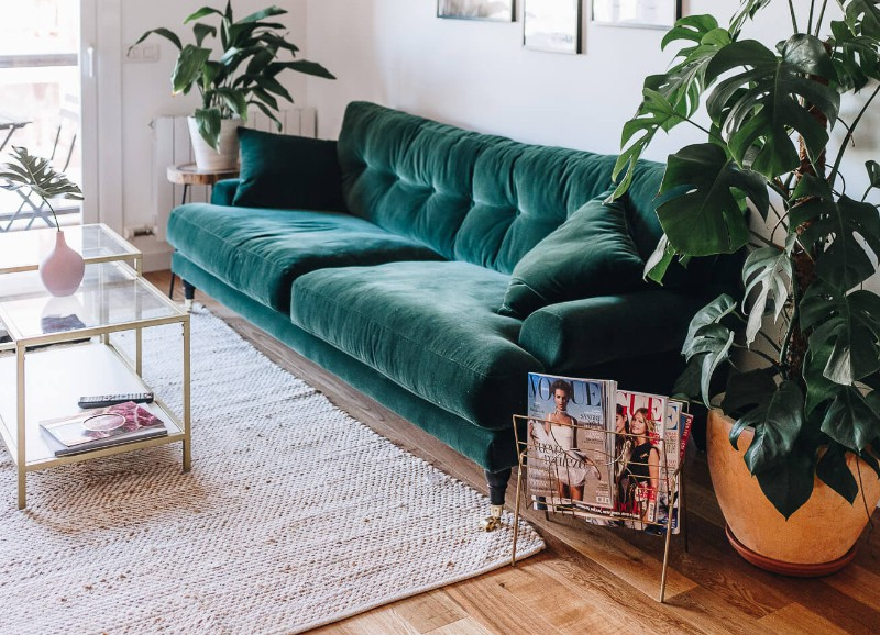 Inspiratie: interieurs met groene velvet items