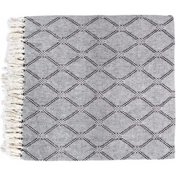 HK living plaid ruit zwart/wit XL 260 x 240