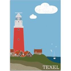 Texel - Waddeneilanden - Nederland  - Vuurtoren - Texel poster  - A4 poster zonder fotolijst