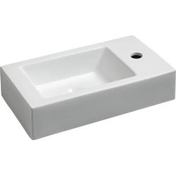 Saqu Fontein  1 kraangat Rechts 45,5x26x12 cm Wit