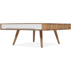 Ena Club Table - Houten salontafel - Naturel - L90 x B90 x H35 cm