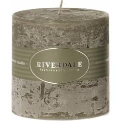 Kaars Pillar Olive 10x10cm