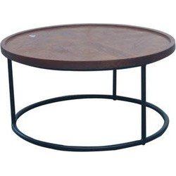 Fine Asianliving Fine Asianliving Salontafel Rond Hout/Staal
