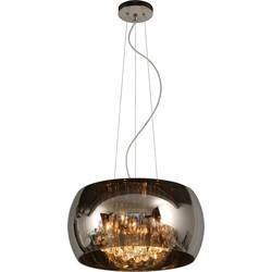 Lucide Verstelbare Hanglamp Pearl - Ø40 X H21 Cm - Glas