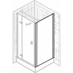 Ben Martino II Zijwand 90x200cm Chroom / Helder Glas