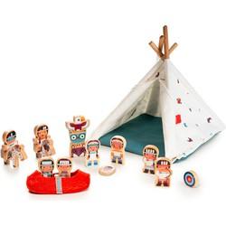 Speelset Wigwam en Indianen - Lilliputiens